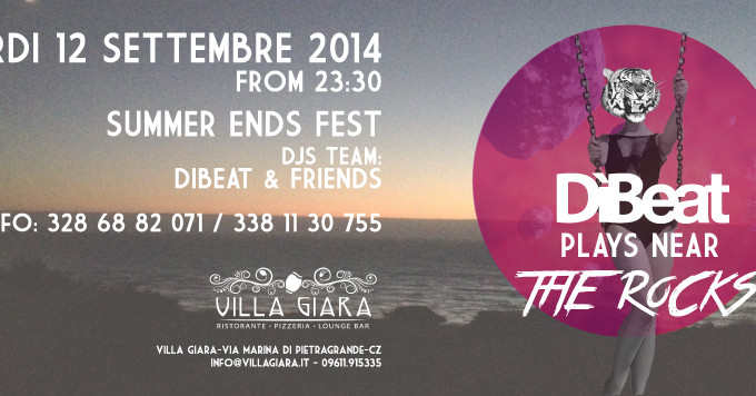 DìBeat plays near the rocks // 12.09.2014 Summer Ends Fest